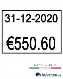 Etichetta formato 26x16 mm-...