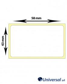 Rotolo etichette termiche 58x43 mm