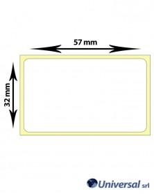 Rotolo etichette vellum 57x32 mm