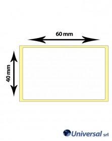 Rotolo etichette termiche 60x40 mm