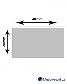 Rotolo etichette Film argento per elettronica 40x20 mm