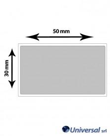 Rotolo etichette Film argento per elettronica 50x30 mm