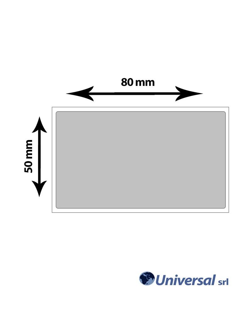 Rotolo etichette Film argento per elettronica 80x50 mm