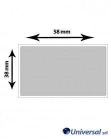 Rotolo etichette Film argento per elettronica 58x38 mm