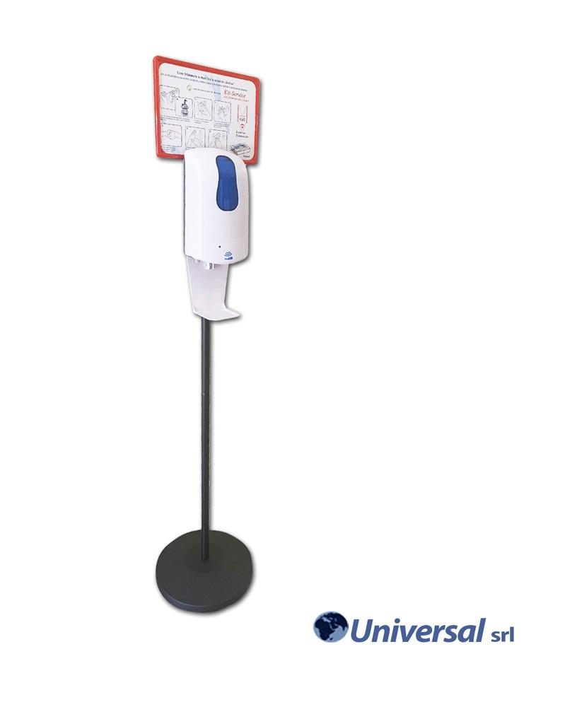 Kit piantana con dispenser automatico di gel Igienizzante Mod. JAMBO