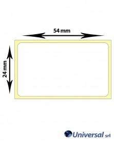 Rotolo etichette termiche 54x24 mm