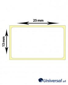 Rotolo etichette termiche 25x13 mm