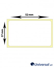 Rotolo etichette vellum 52x37 mm
