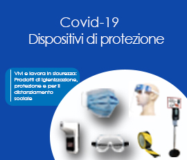 COVID-19 Prodotti di igienizzazione e protezione per il distanziamento sociale